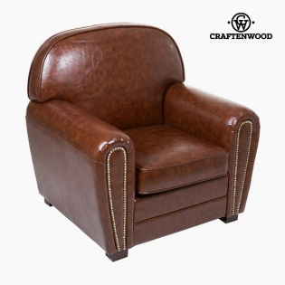 Fauteuil Cuir synthétique Marron Collection Relax Retro by