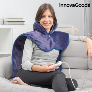 Almohadilla Eléctrica para Cuello, Hombros y Espalda InnovaGoods 60 x 90 cm 100W Añil