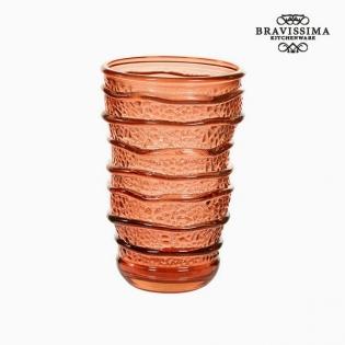 Újrahasznosított Üveg Váza Korall (8 x 8 x 13 cm) by Bravissima Kitchen