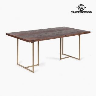 Table De Salle A Manger Bois D Acacia Mdf 180 X 90 X 75 Cm By