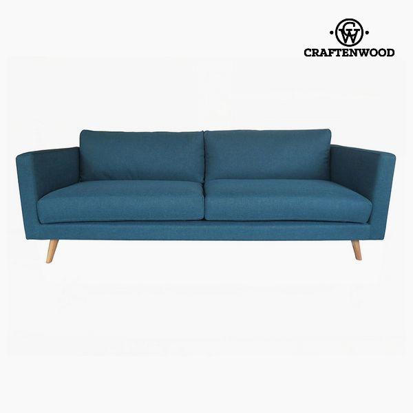 Nytt Treseter sofa Furu Polyester Blå (211 x 88 x 83 cm) by Craftenwood YA-15
