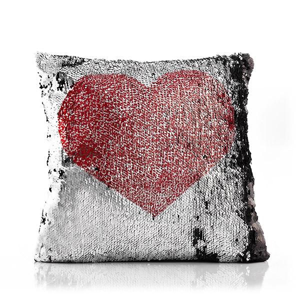 ... Love   Heart Loom In Bloom Mágikus Flitteres Sellő Párna 698eeab8bb