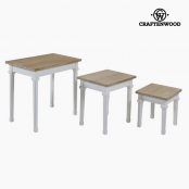 Jeu de 3 tables Bois de paulownia Dm by Craftenwood