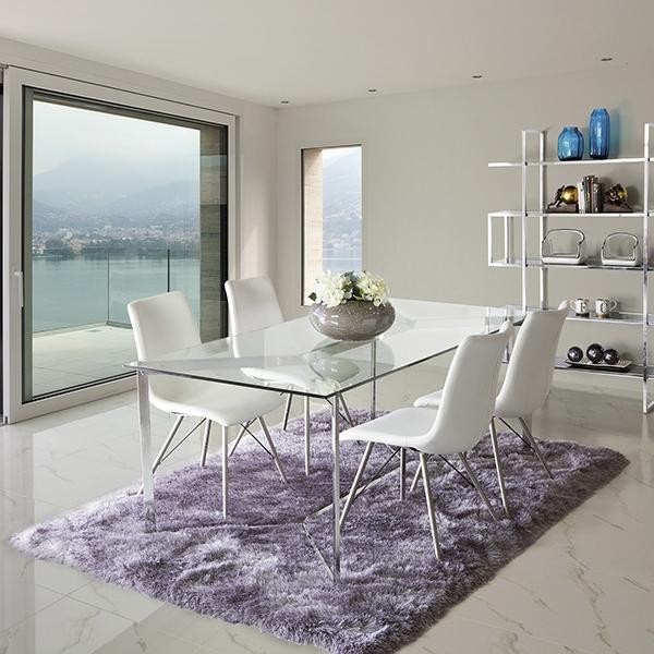 Tavolo da Pranzo Vetro temperato (190 x 90 x 75 cm) by Craftenwood ...