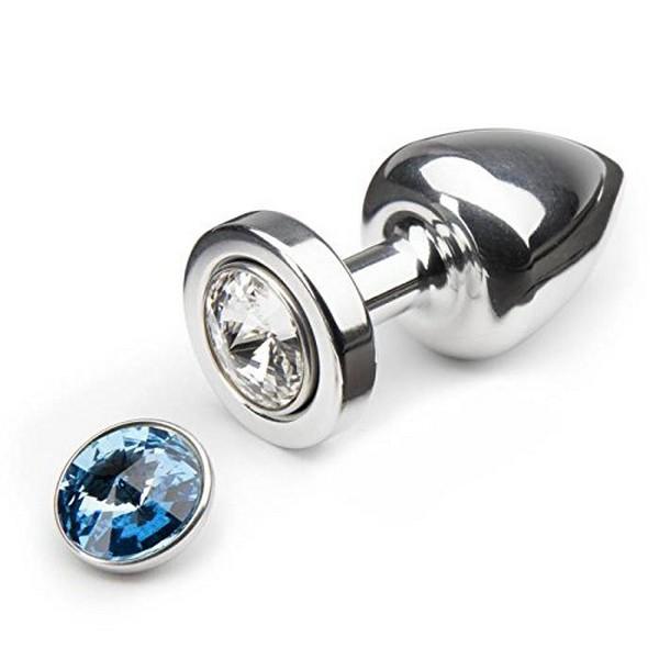 ... Análny kolík s ružovým a modrým vymeniteľným magnetickým kryštálom 30  mm Diogol 65378 576525945d9