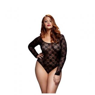 Body de Encaje Negro Queen Size Baci Lingerie BW3102  eebd3f82684d