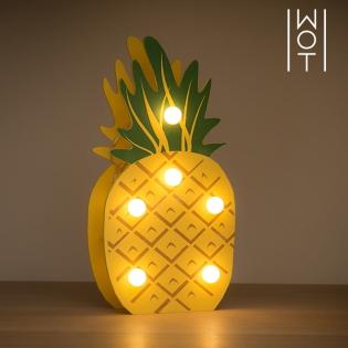 En Led Wagon Décoratif Ananas Trend6 Bois ChtsQdBrx