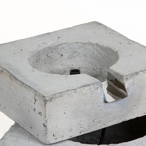 Fontaine de jardin Résine Gris (36,5 x 34,5 x 23,5 cm) by ...