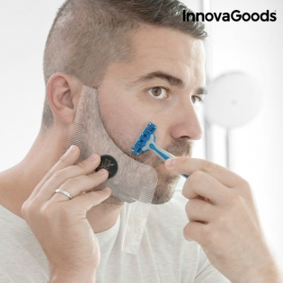 InnovaGoods Hipster Barber Beard Template for Shaving