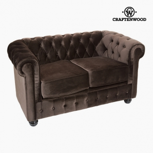 Chesterfield Sofa 2-Sitzer Samt Braun - Relax Retro Kollektion by ...