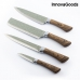 InnovaGoods Swiss·Q Namiutsu Wood & Stone Knife Set (4 Pieces)
