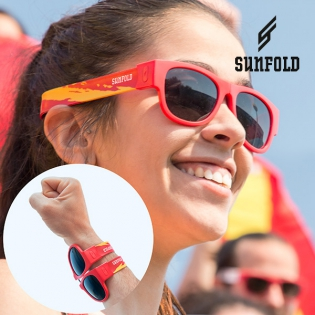 OUTLET Red Sunfold Spain World Cup Roll-Up Sunglasses (No packaging)