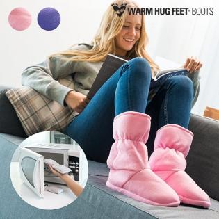 Warm Hug Feet Θερμαινόμενες Παντόφλες Μπότες  884d2615b80