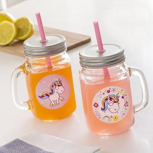 Junior Knows Unicorn Mini Mason Jar Mugs Set Of 2 Buy At