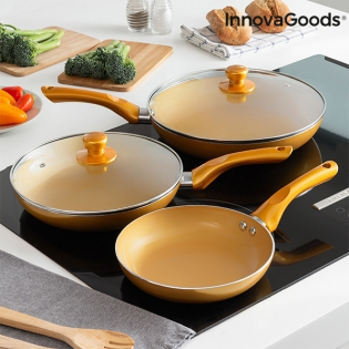 InnovaGoods Gold-Effect Pan Set (5 Pieces)