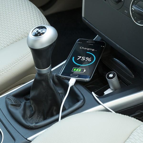 Chargeur USB pour Voiture avec Écouteurs Mains Libres 2100 mAh Bluetooth 145527