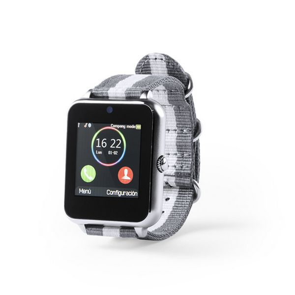 "Montre intelligente Grise 1,54"" LCD Bluetooth 146053"