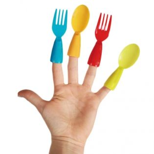 Пластмасови Напръстници Прибори за Хранене