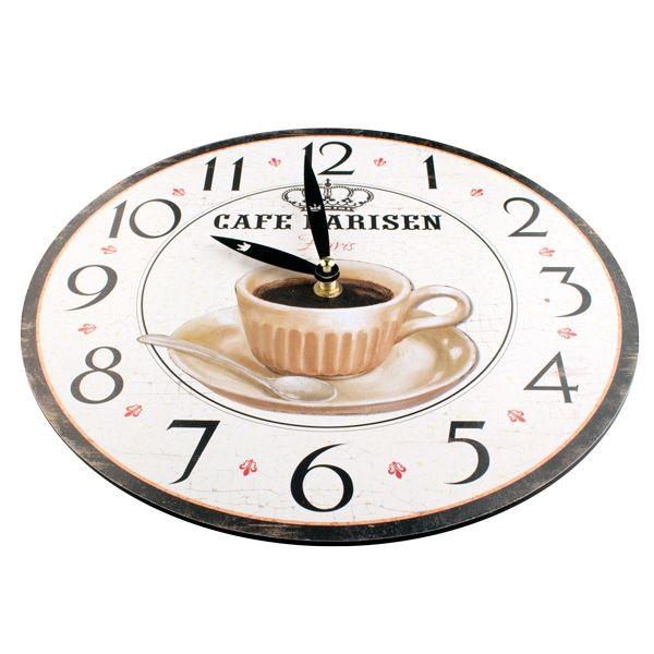 horloge murale caf acheter prix de gros. Black Bedroom Furniture Sets. Home Design Ideas
