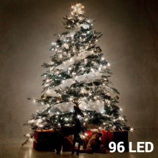 white christmas lights 96 led
