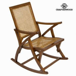 Sedia a Dondolo Rattan (90 x 75 x 57 cm) by Craftenwood | Comprare a ...